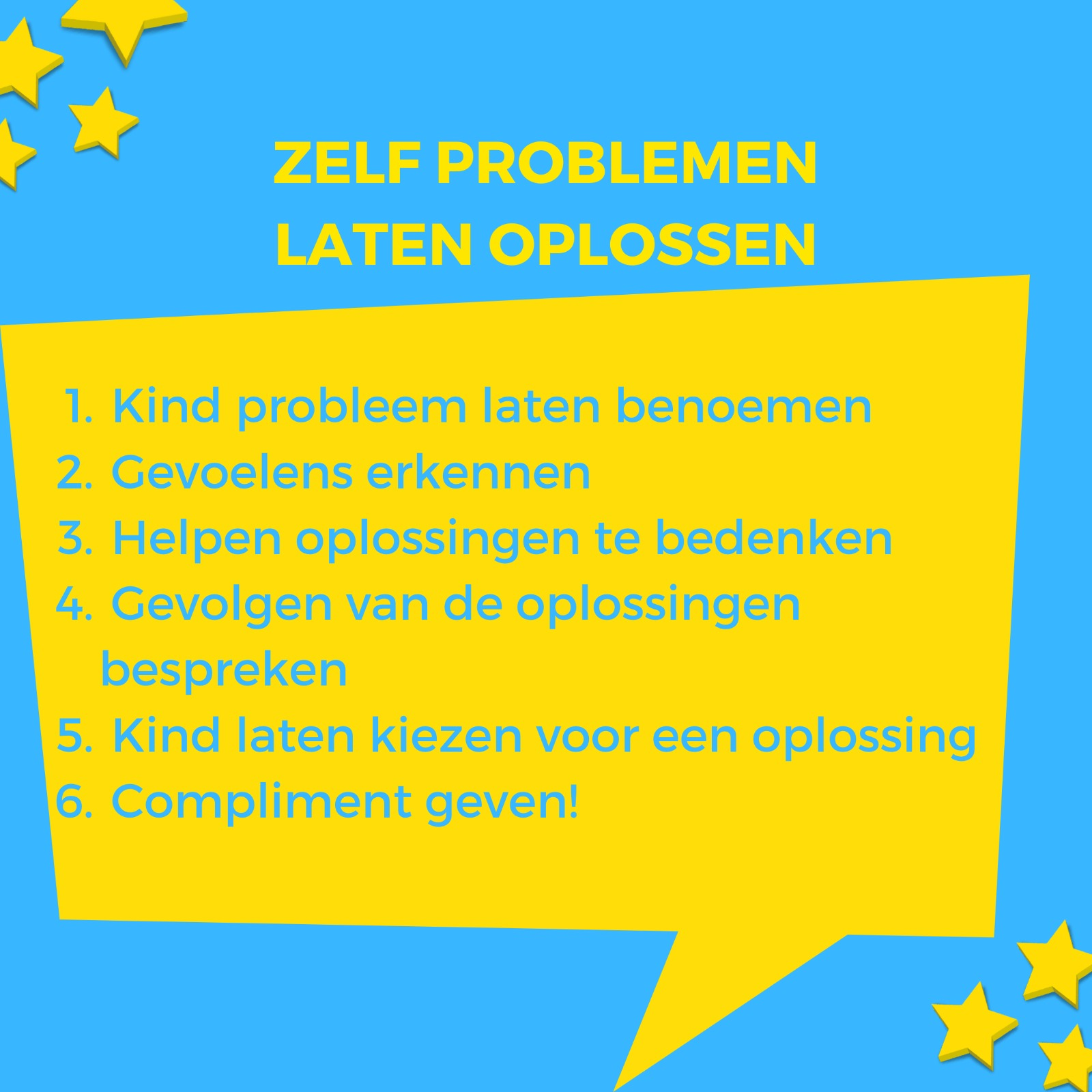 Tips zelf problemen laten oplossen